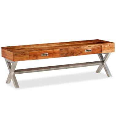 vidaXL Tv-meubel 140 cm massief acaciahout met sheesham afwerking[14/14]