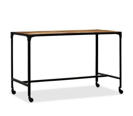 vidaXL Jídelní stůl masivní mangovníkové dřevo a ocel 120 x 60 x 76 cm[11/13]