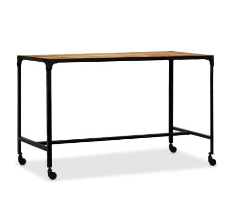 vidaXL Jídelní stůl masivní mangovníkové dřevo a ocel 120 x 60 x 76 cm[13/13]