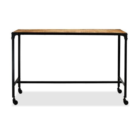 vidaXL Jídelní stůl masivní mangovníkové dřevo a ocel 120 x 60 x 76 cm[3/13]