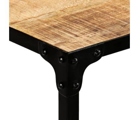 vidaXL Jídelní stůl masivní mangovníkové dřevo a ocel 120 x 60 x 76 cm[4/13]