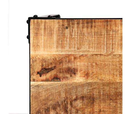 vidaXL Jídelní stůl masivní mangovníkové dřevo a ocel 120 x 60 x 76 cm[5/13]