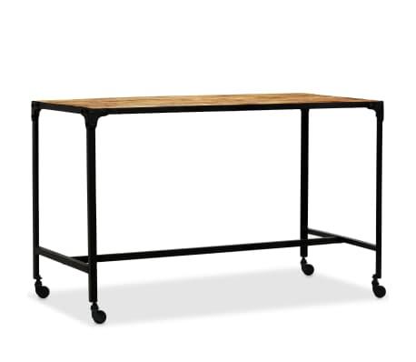 vidaXL Jídelní stůl masivní mangovníkové dřevo a ocel 120 x 60 x 76 cm[9/13]