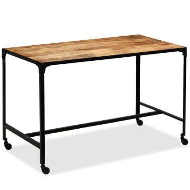 vidaXL Jídelní stůl masivní mangovníkové dřevo a ocel 120 x 60 x 76 cm[2/13]