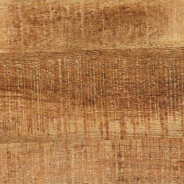 vidaXL Jídelní stůl masivní mangovníkové dřevo a ocel 120 x 60 x 76 cm[6/13]