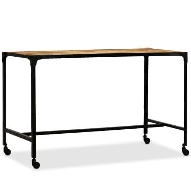 vidaXL Jídelní stůl masivní mangovníkové dřevo a ocel 120 x 60 x 76 cm[10/13]