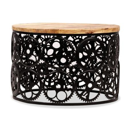 vidaXL Kavos staliukas, masyvi mango mediena, 60x40cm[2/12]