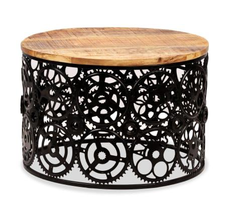 vidaXL Kavos staliukas, masyvi mango mediena, 60x40cm[12/12]