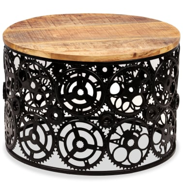 vidaXL Kavos staliukas, masyvi mango mediena, 60x40cm[3/12]
