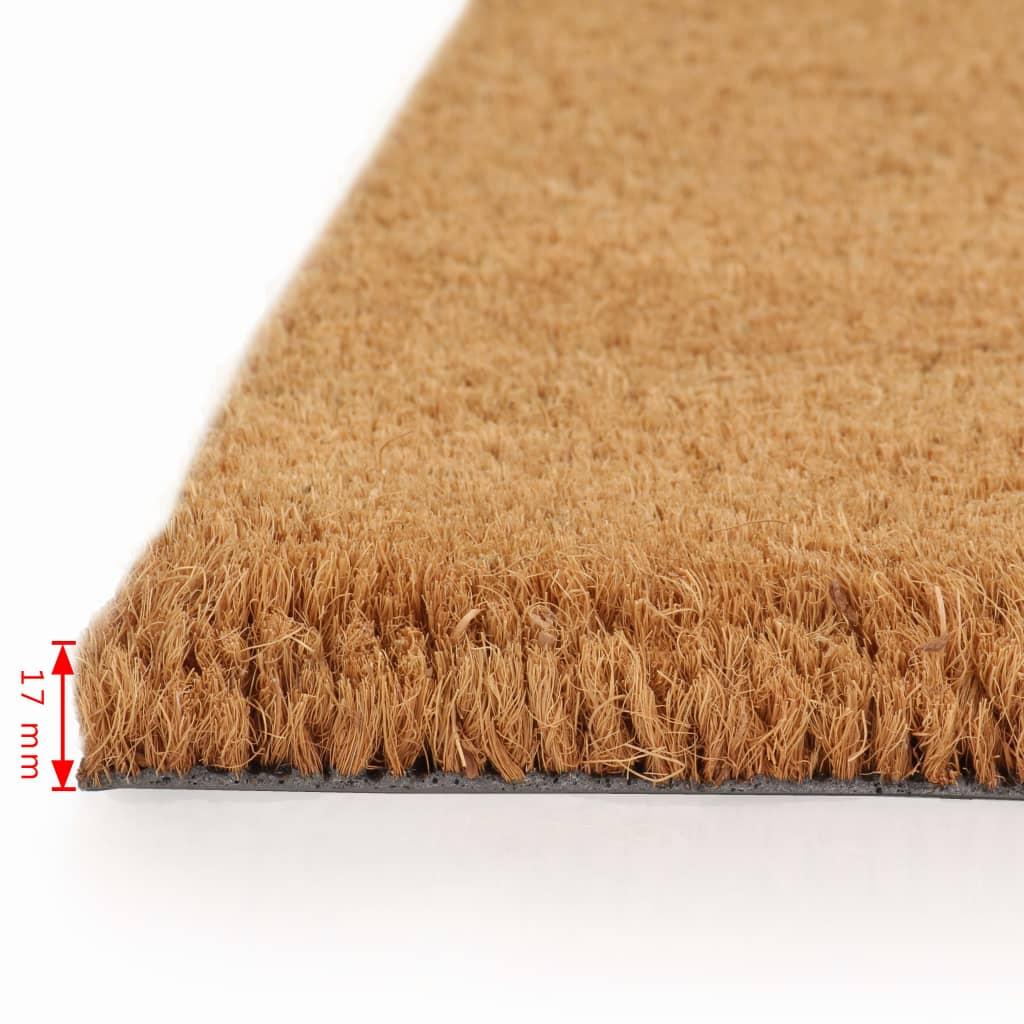 vidaXL Rohožky z kokosových vláken 2 ks 17 mm 40 x 60 cm přírodní