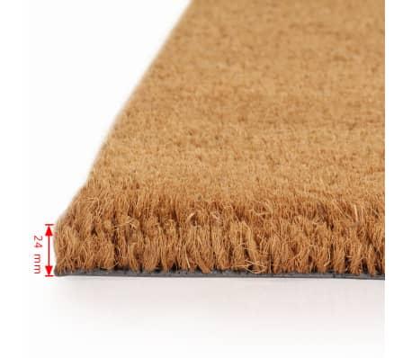 vidaXL Felpudo de fibra de coco color natural 2 unidades 24mm 40x60cm[2/5]