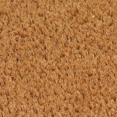 vidaXL Felpudo de fibra de coco color natural 2 unidades 24mm 40x60cm[3/5]