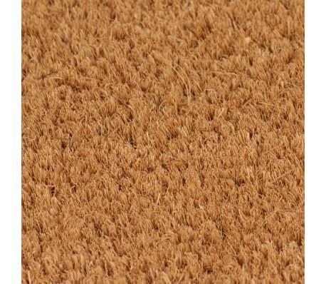 vidaXL dørmåtte coir 24 mm 80 x 100 cm naturfarvet[3/5]