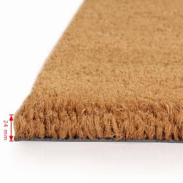 vidaXL Paillasson Fibre de coco 24 mm 80 x 100 cm Naturel[2/5]