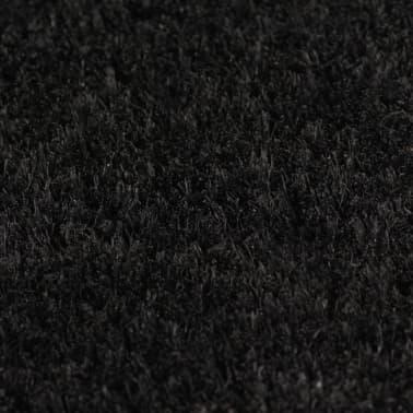 vidaXL Deurmat 17 mm 80x100 cm kokosvezel zwart[3/5]