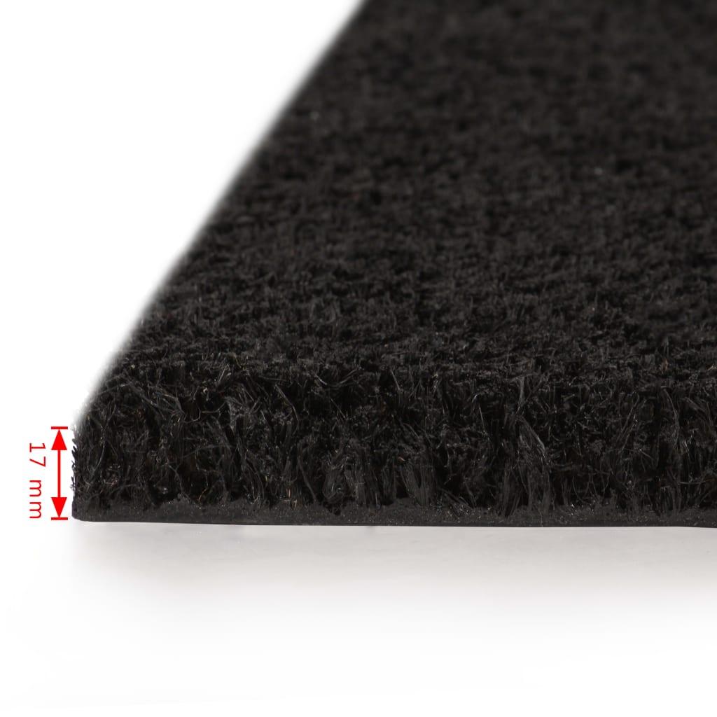 vidaXL Rohožka z kokosových vláken 17 mm 100 x 100 cm černá