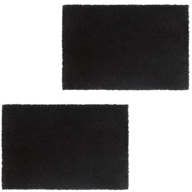 vidaXL Deurmatten 24 mm 50x80 cm kokosvezel zwart 2 st[1/5]