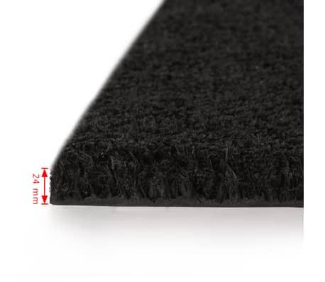 vidaXL dørmåtte coir 24 mm 80 x 100 cm sort[2/5]