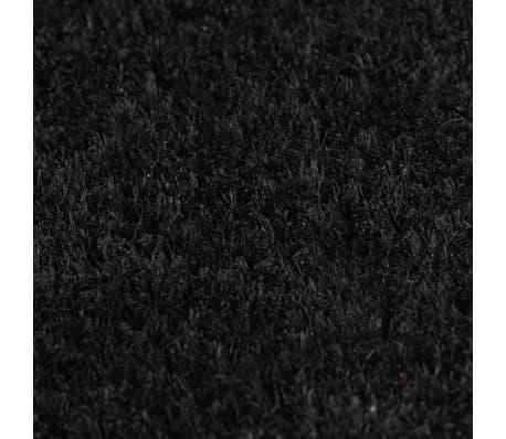 vidaXL Covoraș de intrare, fibră nucă cocos, 24 mm 80x100 cm negru[3/5]