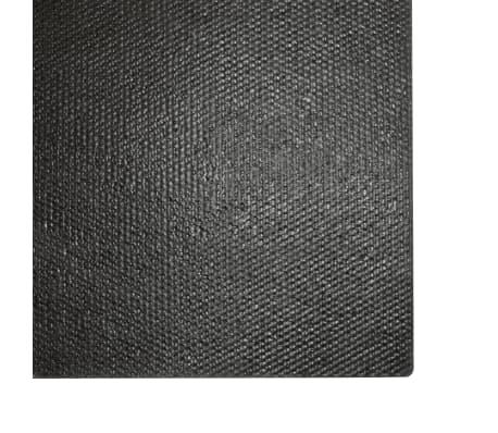 vidaXL Fußmatte Kokosfaser 24 mm 80 x 100 cm Schwarz[5/5]