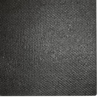 vidaXL Covoraș de intrare, fibră nucă cocos, 24 mm 80x100 cm negru[5/5]