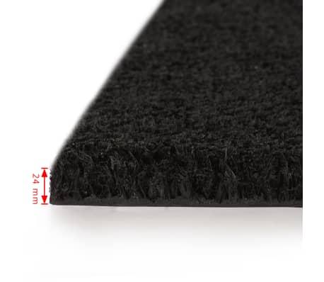 vidaXL Paillasson Fibre de coco 24 mm 100 x 200 cm Noir[2/5]