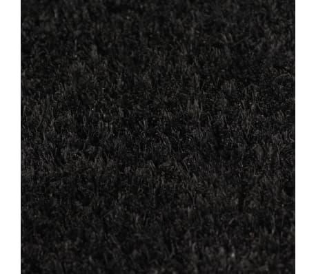vidaXL Paillasson Fibre de coco 24 mm 100 x 200 cm Noir[3/5]