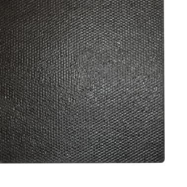 vidaXL Paillasson Fibre de coco 24 mm 100 x 200 cm Noir[5/5]