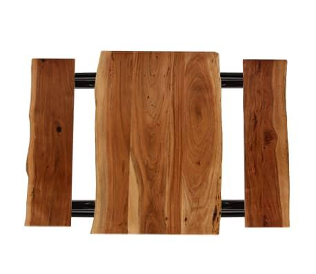 vidaXL Stolik barowy z ławkami, lite drewno akacjowe, 80x50x107 cm[3/13]
