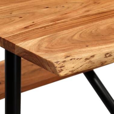 vidaXL Stolik barowy z ławkami, lite drewno akacjowe, 80x50x107 cm[4/13]