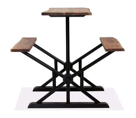 vidaXL Table de bar avec bancs Bois massif d'acacia 120 x 50 x 107 cm[2/13]