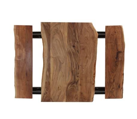 vidaXL Table de bar avec bancs Bois massif d'acacia 120 x 50 x 107 cm[3/13]
