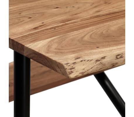 vidaXL Table de bar avec bancs Bois massif d'acacia 120 x 50 x 107 cm[4/13]