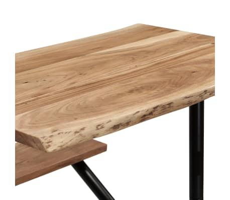 vidaXL Table de bar avec bancs Bois massif d'acacia 120 x 50 x 107 cm[5/13]