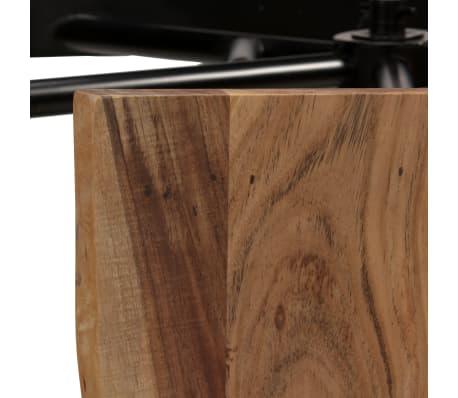 vidaXL Table de bar avec bancs Bois massif d'acacia 120 x 50 x 107 cm[6/13]