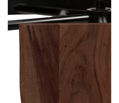vidaXL Mesa de bar con bancos madera maciza reciclada 80x50x107 cm[6/13]