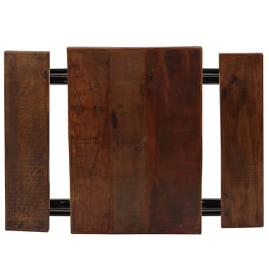 vidaXL Mesa de bar con bancos madera maciza reciclada 80x50x107 cm[3/13]