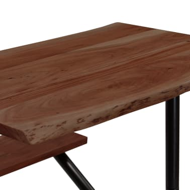 vidaXL Mesa de bar con bancos madera maciza reciclada 80x50x107 cm[4/13]