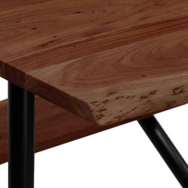 vidaXL Mesa de bar con bancos madera maciza reciclada 80x50x107 cm[5/13]