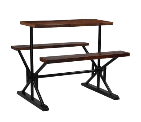 vidaXL Barska miza s klopmi iz trdnega predelanega lesa 120x50x107 cm[1/13]