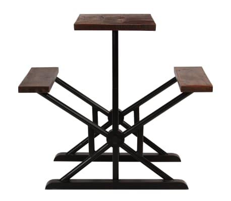 vidaXL Barska miza s klopmi iz trdnega predelanega lesa 120x50x107 cm[2/13]