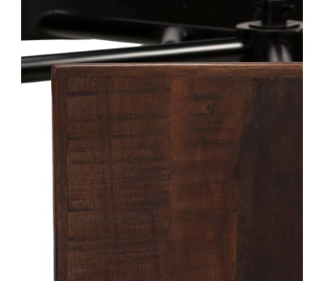 vidaXL Barska miza s klopmi iz trdnega predelanega lesa 120x50x107 cm[6/13]