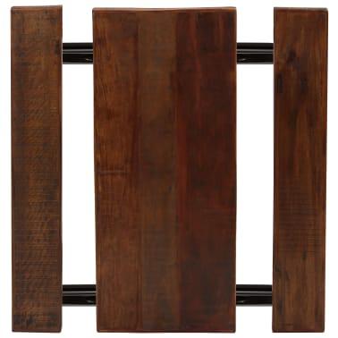 vidaXL Barska miza s klopmi iz trdnega predelanega lesa 120x50x107 cm[3/13]