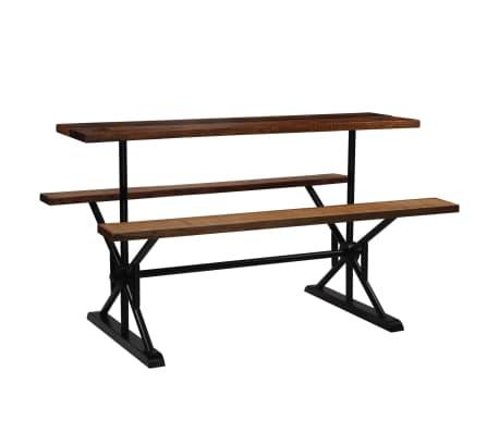 vidaXL Barový stůl s lavicemi masivní recyklované dřevo 180x50x170 cm
