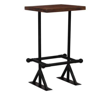 vidaXL Barový stůl masivní recyklované dřevo 60x60x107 cm tmavě hnědý