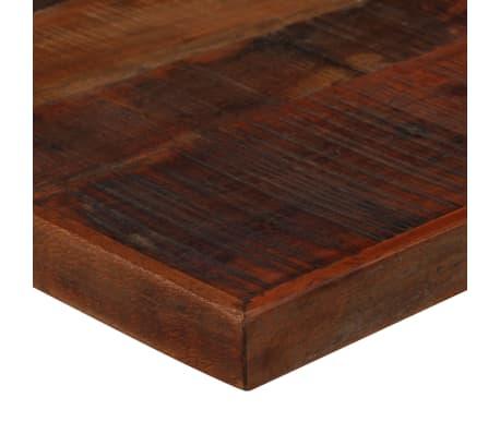 vidaXL Stolik barowy, lite drewno z odzysku, ciemny brąz, 60x60x107 cm[4/12]