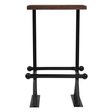 vidaXL Stolik barowy, lite drewno z odzysku, ciemny brąz, 60x60x107 cm[2/12]