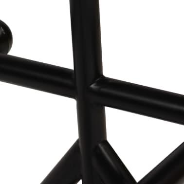 vidaXL Stolik barowy, lite drewno z odzysku, ciemny brąz, 60x60x107 cm[6/12]