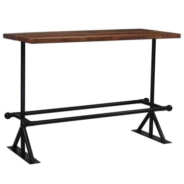 vidaXL Barový stůl masivní recyklované dřevo 150x70x107 cm tmavě hnědý[1/12]