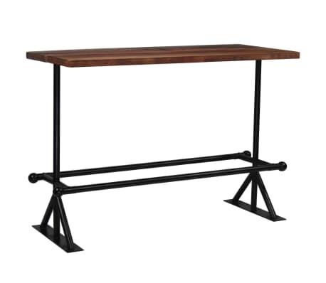 vidaXL Barový stůl masivní recyklované dřevo 150x70x107 cm tmavě hnědý[11/12]